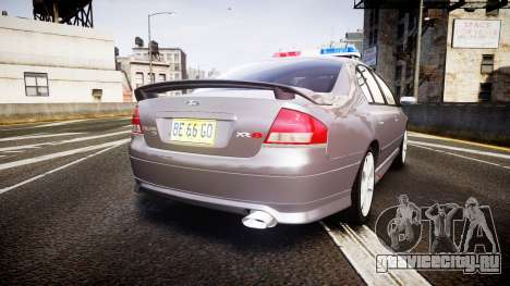 Ford Falcon XR8 Unmarked Police [ELS] для GTA 4 вид сзади слева