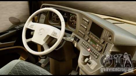 Mercedes-Benz Actros MP4 4x2 Standart Interior для GTA San Andreas вид справа