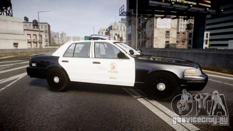 Ford Crown Victoria 2011 LAPD [ELS] rims2 для GTA 4 вид слева