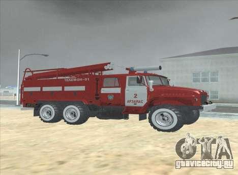 Урал 375 Пожарный для GTA San Andreas вид сзади слева