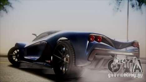 GTA 5 Grotti Turismo R SA Style для GTA San Andreas вид сзади