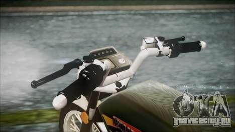 Suzuki AX 100 для GTA San Andreas вид сзади