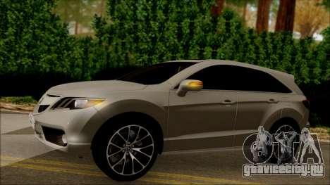 Acura RDX 2009 для GTA San Andreas вид сбоку