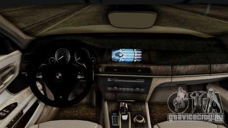 BMW 7 Series F02 2012 для GTA San Andreas вид справа