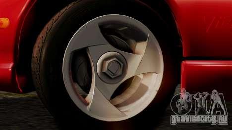 Dodge Viper RT 10 1992 для GTA San Andreas вид сзади слева