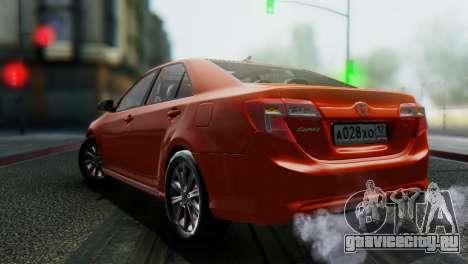 Toyota Camry 2012 для GTA San Andreas вид сзади