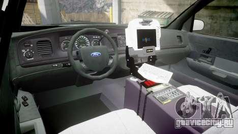 Ford Crown Victoria Bohan Police [ELS] WL для GTA 4 вид сзади