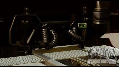 Mercedes-Benz Actros MP4 4x2 Standart Interior для GTA San Andreas вид сзади