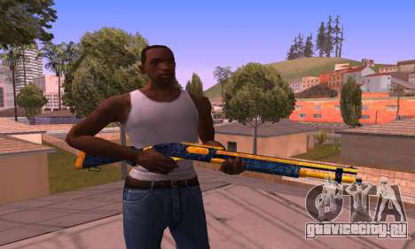 Shotgun BlueYellow для GTA San Andreas