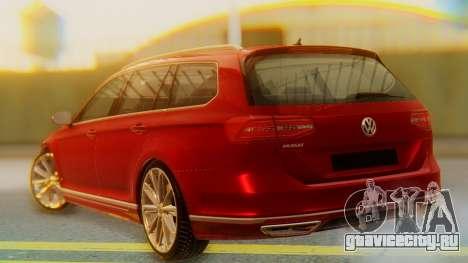 Volkswagen Passat Variant R-Line для GTA San Andreas вид слева