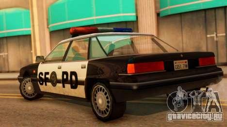 Police SF Intruder для GTA San Andreas вид слева