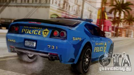 Hunter Citizen SAPD IVF для GTA San Andreas вид слева
