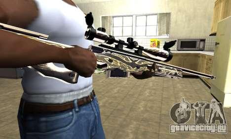 Gold Dragon Sniper Rifle для GTA San Andreas
