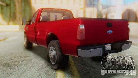 Ford F-350 Super Duty Regular Cab 2008 IVF АПП для GTA San Andreas вид сзади слева