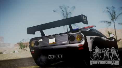 NFS Rivals McLaren F1 LM для GTA San Andreas вид сзади слева