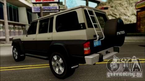 Nissan Patrol Y60 для GTA San Andreas вид справа