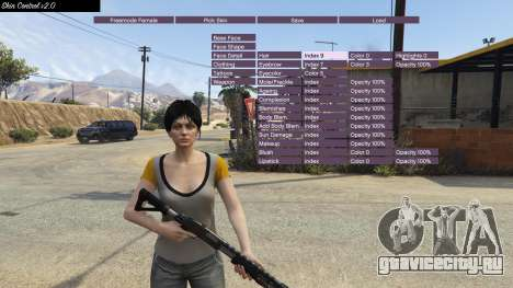 Skin Control 2.0 для GTA 5 третий скриншот