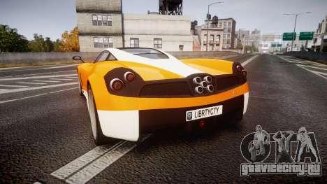 GTA V Pegassi Osiris для GTA 4 вид сзади слева
