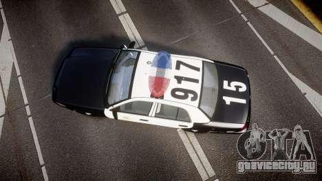 Ford Crown Victoria 2011 LAPD [ELS] rims2 для GTA 4 вид справа