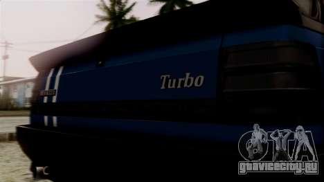 Renault 11 Turbo для GTA San Andreas вид сзади