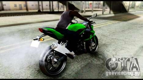 Kawasaki Z250SL Green для GTA San Andreas вид сзади слева