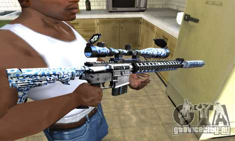 Blue Snow Sniper Rifle для GTA San Andreas