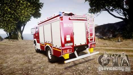 Mercedes-Benz Atego 1530 Firetruck [ELS] для GTA 4 вид сзади слева