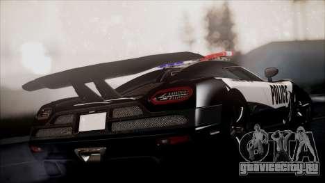 NFS Rivals Koenigsegg Agera R для GTA San Andreas вид слева