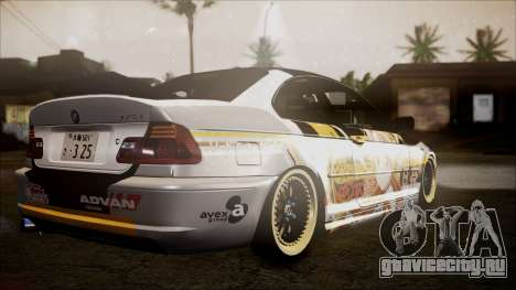 BMW 325t E46 LCI SAO Itasha для GTA San Andreas вид слева