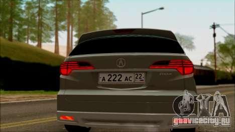 Acura RDX 2009 для GTA San Andreas вид справа