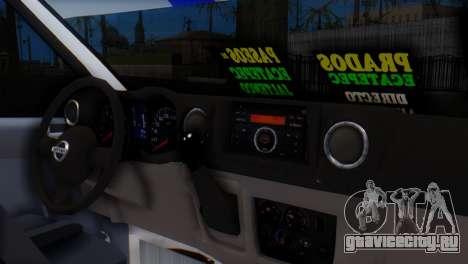 Nissan Urvan NV350 для GTA San Andreas вид справа
