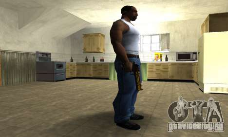 Yellow Jungle Deagle для GTA San Andreas второй скриншот