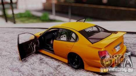 Toyota Aristo для GTA San Andreas вид сзади