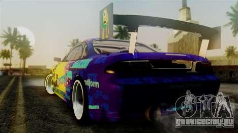 Nissan Silvia S14 Kouki Matt Faileds для GTA San Andreas вид слева