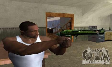 Green Clayn Deagle для GTA San Andreas третий скриншот