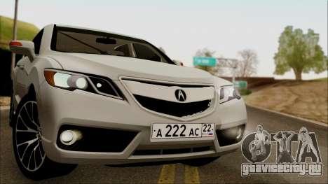Acura RDX 2009 для GTA San Andreas вид сзади слева