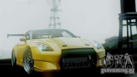 Nissan GT-R R35 Bensopra 2013 для GTA San Andreas вид изнутри