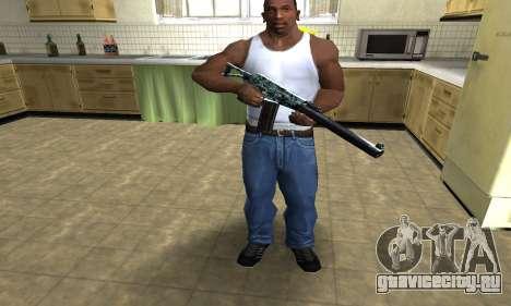 Blue M4 для GTA San Andreas третий скриншот