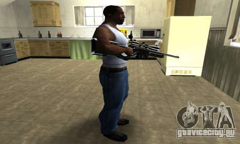 Full Black Sniper Rifle для GTA San Andreas третий скриншот