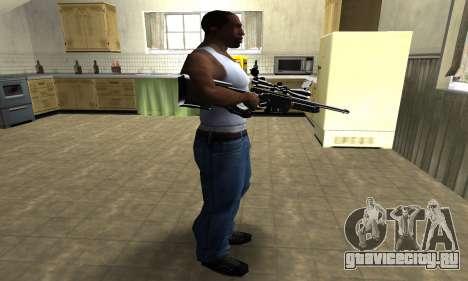 Full Black Sniper Rifle для GTA San Andreas третий скриншот