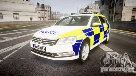 Volkswagen Passat B7 North West Police [ELS] для GTA 4