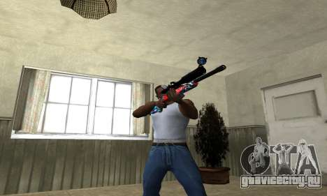 Red Shark Sniper Rifle для GTA San Andreas третий скриншот