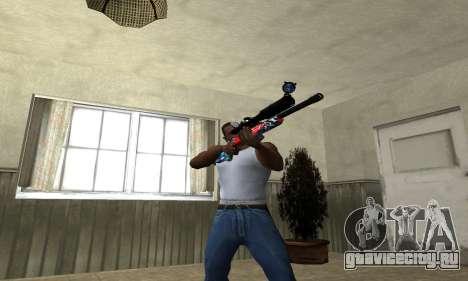 Red Shark Sniper Rifle для GTA San Andreas третий скриншот