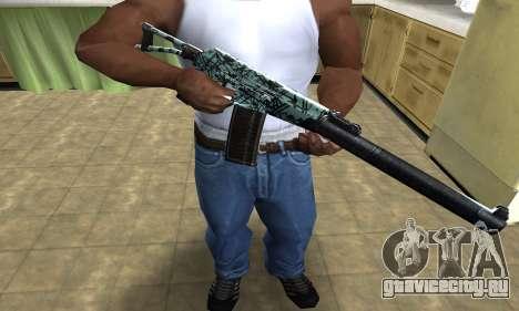 Blue M4 для GTA San Andreas