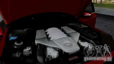 Mercedes-Benz W212 E63 AMG для GTA San Andreas вид изнутри