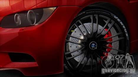 BMW M3 E92 2008 для GTA San Andreas вид изнутри