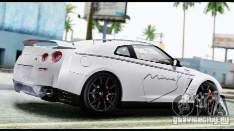 Nissan GT-R R35 2012 для GTA San Andreas вид слева
