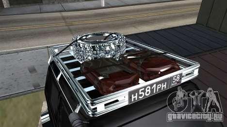 ВАЗ 2121 Нива Offroad для GTA San Andreas вид сзади