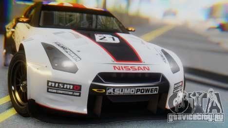 Nissan GT-R GT1 Sumo для GTA San Andreas вид изнутри