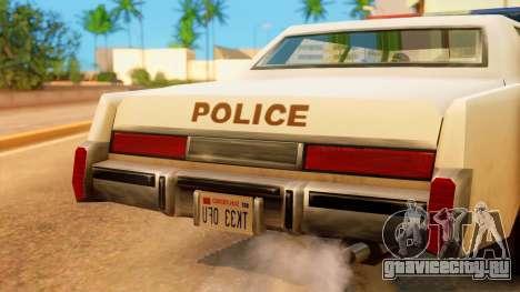 4-door Police Esperanto для GTA San Andreas вид справа